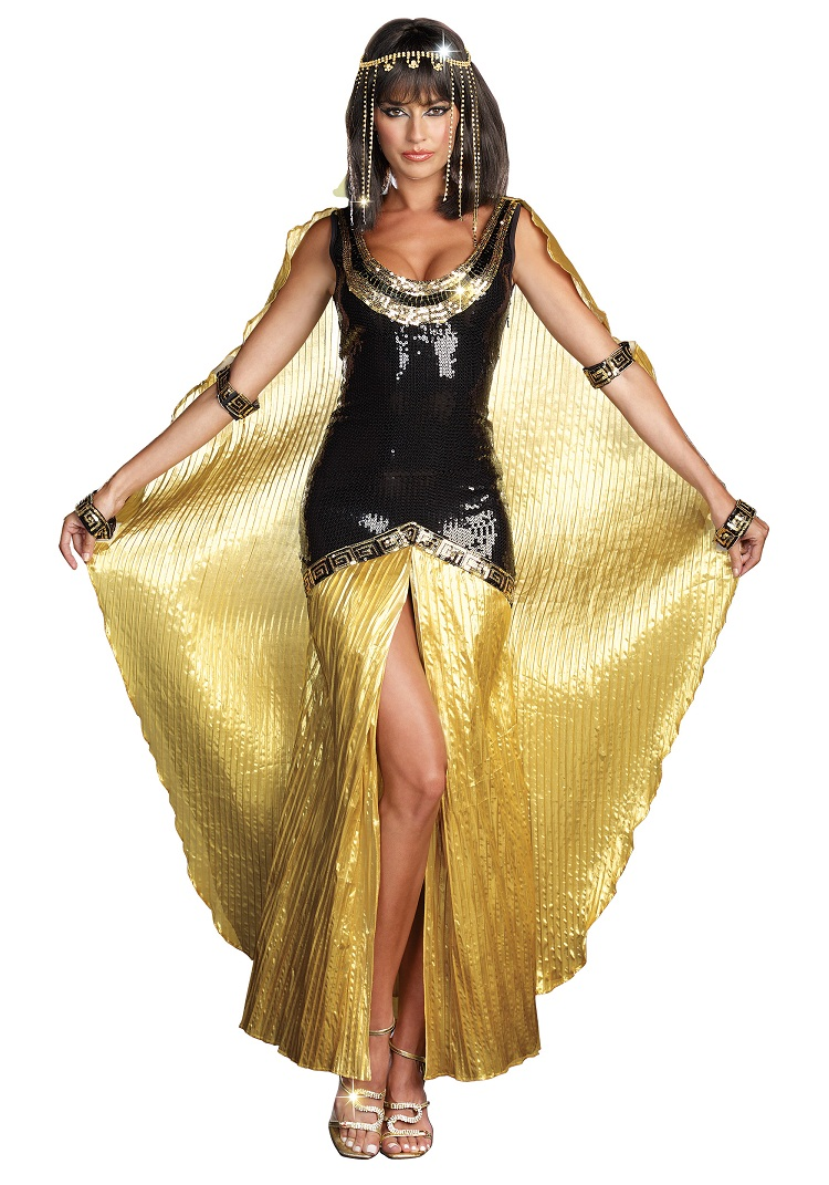 Wonderful  Gold Black Halloween Costume  Traditional Fancy Dress Costume And 2