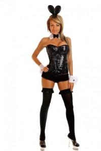 Black Bunny Costume