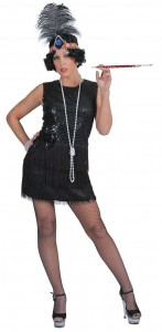 Black Flapper Dress Costume