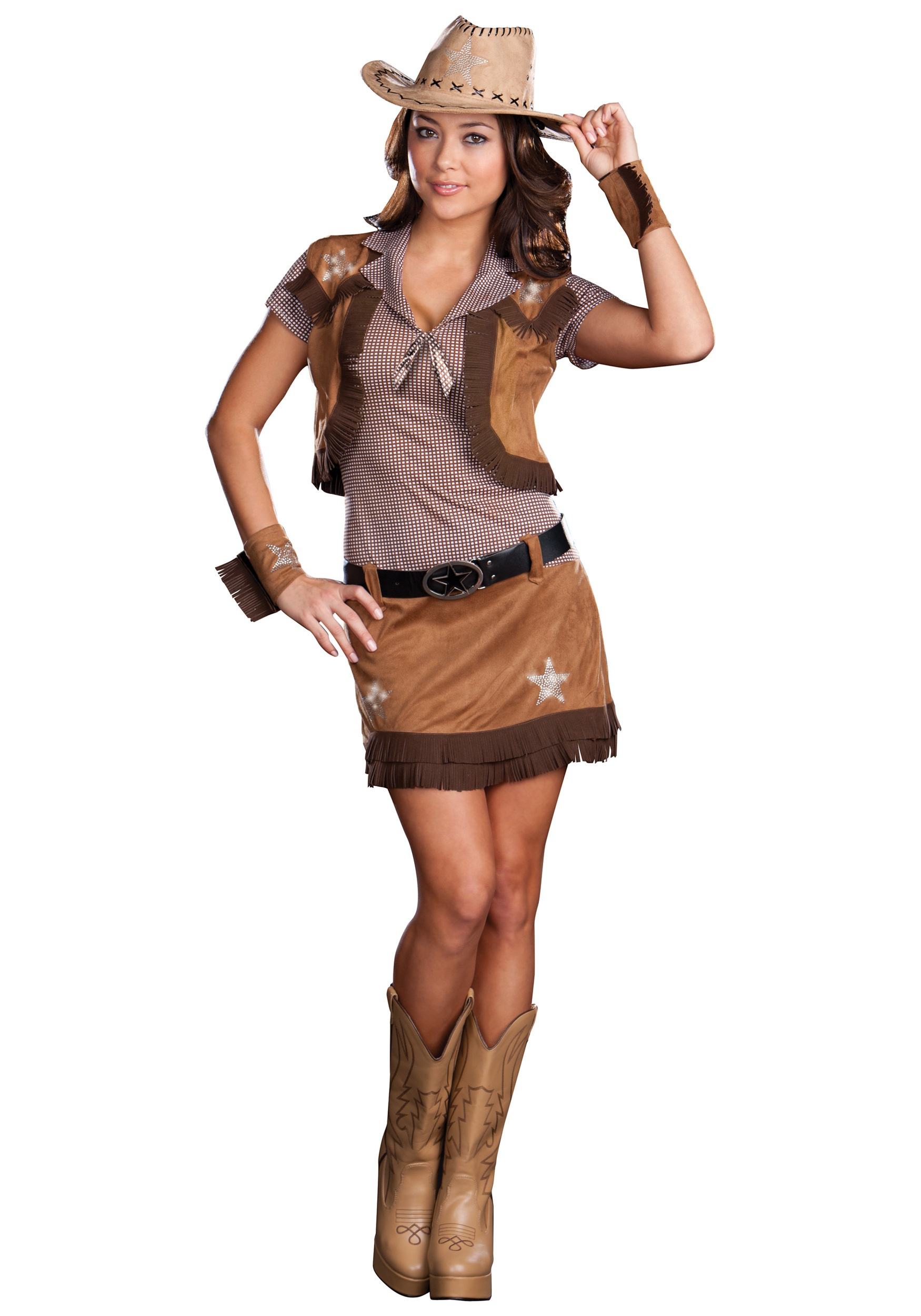 Little pussy adult western style costumes extra large sizes watch