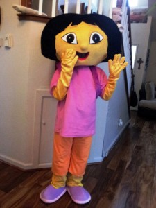 Dora the Explorer Mascot Costume