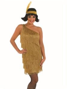 Gold Flapper Dress Costume