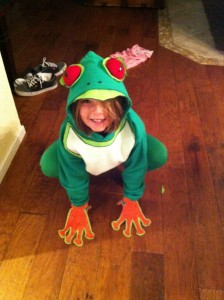 Homemade Frog Costume