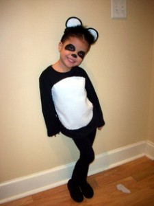 Homemade Panda Bear Costume