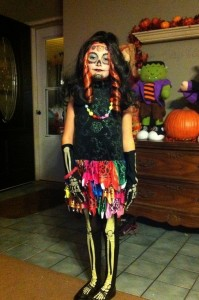 Homemade Skelita Calaveras Costume