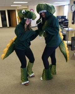 Homemade T Rex Costume