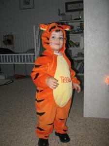 Homemade Tigger Costume