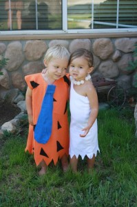 Kids Fred and Wilma Flintstone Costumes