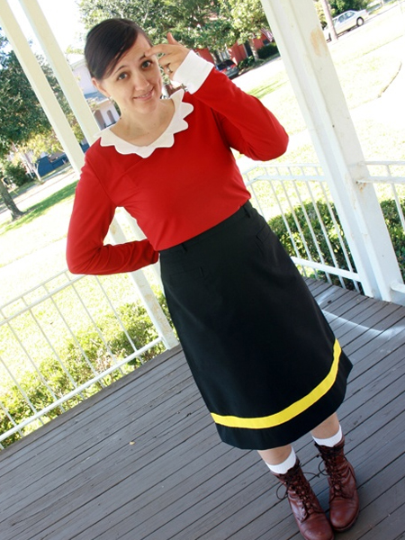 olive oyl costume costumes fc. Black Bedroom Furniture Sets. Home Design Ideas