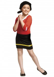 Olive Oyl Costume for Kids