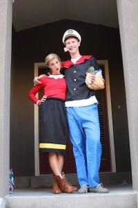Olive Oyl and Popeye Costume