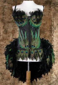 Peacock Burlesque Costume