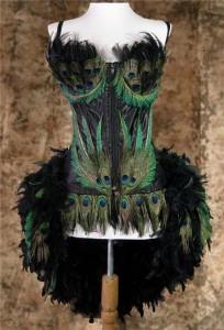 Peacock Burlesque Costume