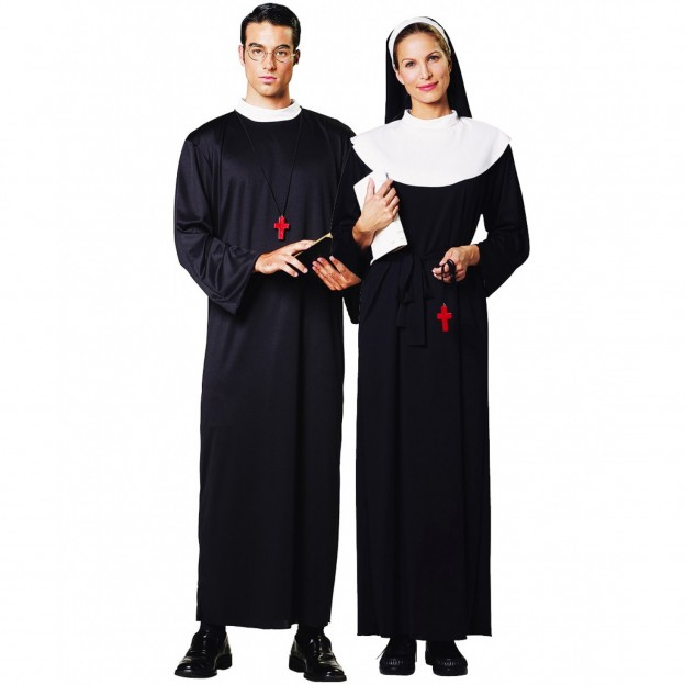 Sexy priest and nun couple costume — pic 9
