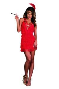 Red Flapper Dress Costume