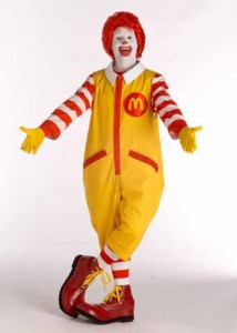 Ronald Mcdonald Costume for Man