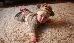 Sock Monkey Baby Costume