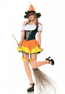 Candy Corn Witch Costume Girls