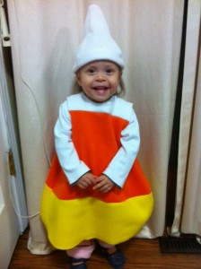 Homemade Candy Corn Costume