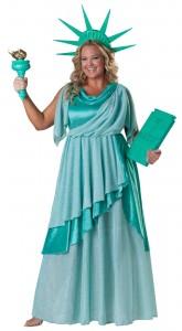 Plus Size Statue Liberty Costume