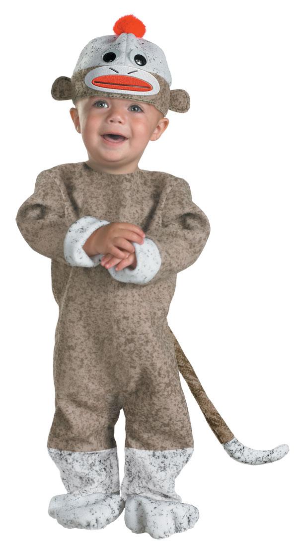 baby sock monkey costume - Halloween Monkey Costumes