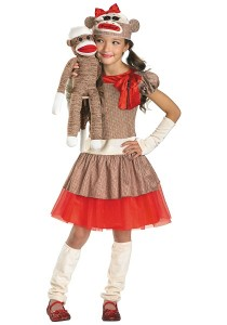 Girl Sock Monkey Costume
