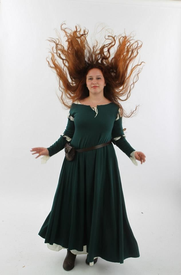 how to make merida brave dress