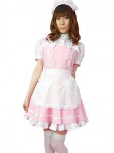 Pink Maid Costume
