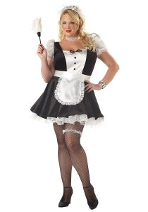 Plus Size French Maid Costumes