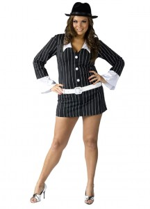 Plus Size Womens Gangster Costume