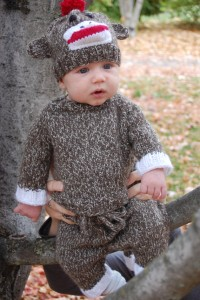 Sock Monkey Costume Baby