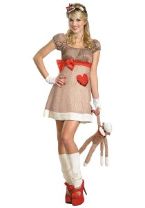 Sock Monkey Costume for Adults