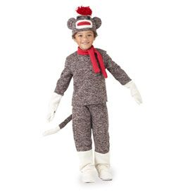 Sock Monkey Toddler Costume